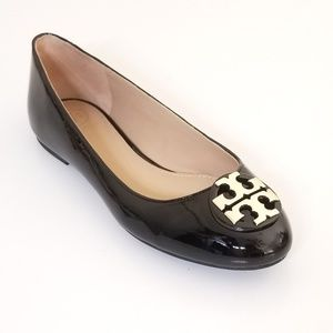 Tory burch Claire patent ballet flat shoes